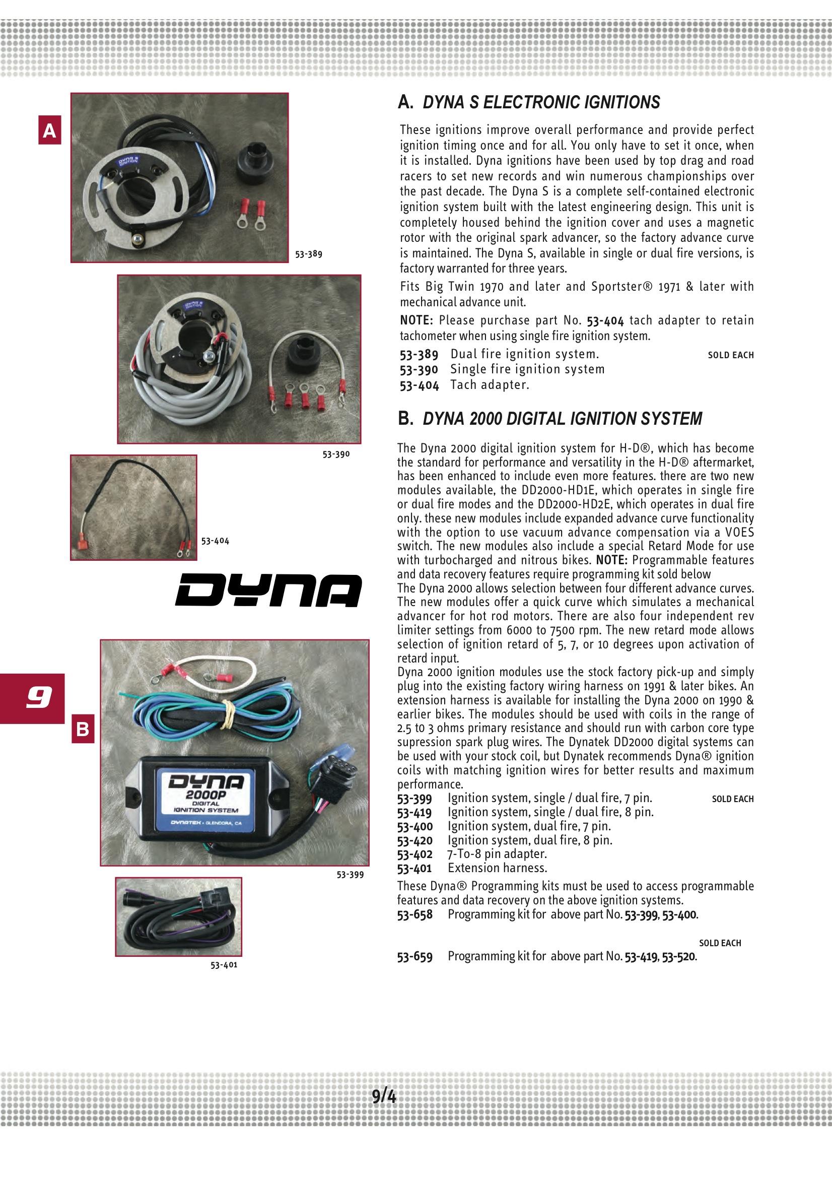 Dyna single fire ignition  Dynatek  2019-08-01